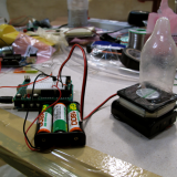 Condom inflated with a fan and rechargeable batteries