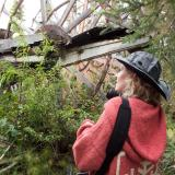 Tammy near a paddling wheel